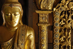 Myanmar, Salay: Statue in Salay monastery Stock Images