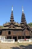 Myanmar, Salay: Yosqson Kyaung Kloster Lizenzfreie Stockbilder