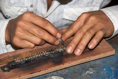 Myanmar silversmith Royalty Free Stock Photos