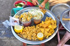 Myanmar street food stock image