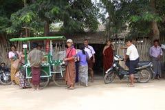Myanmar street life Royalty Free Stock Image