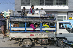 Myanmar street Royalty Free Stock Photo