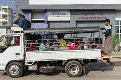 Myanmar street Royalty Free Stock Images
