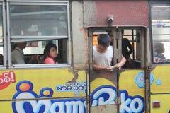 Myanmar street view in Yangon Royalty Free Stock Photography