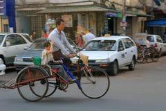 Myanmar street view in Yangon Stock Photos