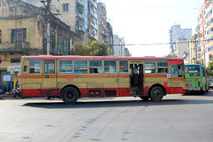 Myanmar street view in Yangon Royalty Free Stock Photos