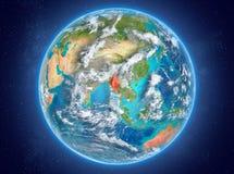 Myanmar sur terre de planète dans l'espace Image stock