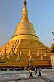 Myanmar Swedagon Yangon Arkivbild