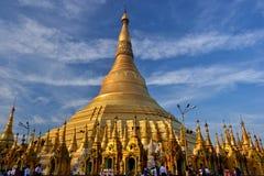 Myanmar Swedagon Yangon. Travel through historical places in Myanmar / Birma stock photo