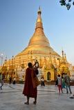 Myanmar Swedagon Yangon. Travel through historical places in Myanmar / Birma royalty free stock photography