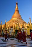 Myanmar Swedagon Yangon. Travel through historical places in Myanmar / Birma royalty free stock photo