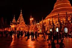 Myanmar Swedagon Yangon. Travel through historical places in Myanmar / Birma royalty free stock images