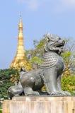 Myanmar Symbol of Sule Pagoda Royalty Free Stock Photo