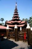 myanmar tempel Arkivbilder