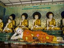 Myanmar tempel och lagar royaltyfria bilder