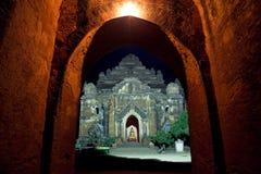 myanmar Tempel von Bagan nachts Stockfotos