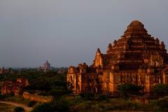 myanmar Tempie di Bagan alla notte Fotografie Stock Libere da Diritti