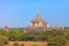 myanmar Tempio di Gawdawpalin in vecchio Bagan immagini stock libere da diritti