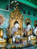 Myanmar temples and statutes. And Buddhas Stock Image