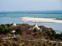 Myanmar temples and statutes. And Buddhas Stock Images