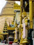 Myanmar temples and statutes. And Buddhas Royalty Free Stock Images