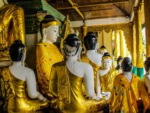 Myanmar temples and statutes. And Buddhas Stock Photo