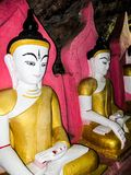 Myanmar temples and statutes. And Buddhas Royalty Free Stock Photo