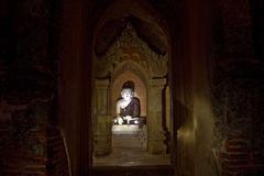 myanmar Templos de Bagan na noite Imagem de Stock