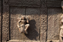 Myanmar träskulptur Royaltyfri Foto