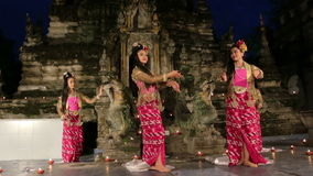The Myanmar Traditional Dance. Royalty Free Stock Photos