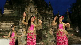 The Myanmar Traditional Dance. stock video