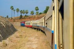 Myanmar train Stock Image