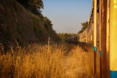 Myanmar by Train stock photography