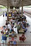 Myanmar Train Passengers Stock Images