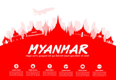 Myanmar Travel Landmarks. Stock Image