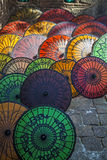 Myanmar, umbrellas typical Stock Photos