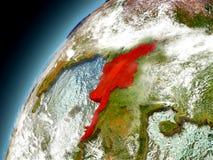 Myanmar von der Bahn von vorbildlichem Earth Lizenzfreies Stockfoto