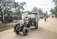 Myanmar vrachtwagen Royalty-vrije Stock Foto's