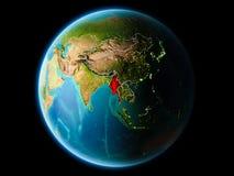 Myanmar w wieczór Obrazy Stock