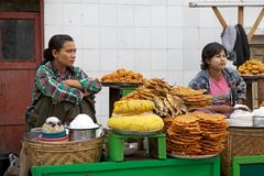 Myanmar woman Stock Images