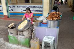 Myanmar woman Stock Image