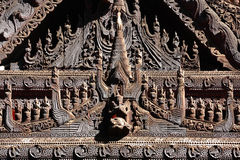 Myanmar Wood Carving Stock Photos