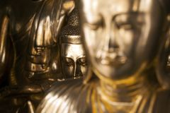 Myanmar - Yangon - THE GREAT SHWEDAGON PAGODA. A Buddha Detail royalty free stock photo