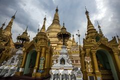 Myanmar - Yangon - THE GREAT SHWEDAGON PAGODA. Daily religion ceremony for health and lucky royalty free stock image
