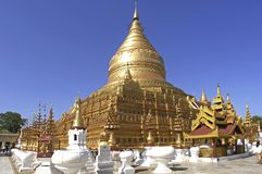 Myanmar, Yangon: Shwedagon pagoda Royalty Free Stock Photos