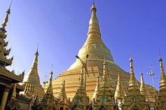 Myanmar, Yangon: Shwedagon pagoda Stock Photo