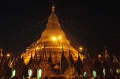 Myanmar Yangon : Shwedagon Pagoda Stock Photo