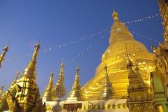 Myanmar Yangon: Shwedagon Pagode Stockfotos
