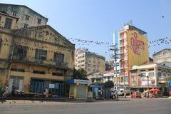 Myanmar Yangon Street view Stock Photos