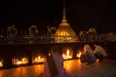 myanmar złota skała Obrazy Royalty Free